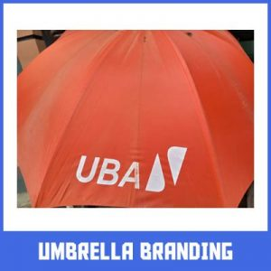 umbrella branding in lagos by Excellence Awards International