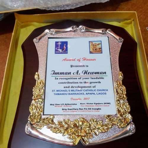 Wooden Plaque By Excellence Awards International