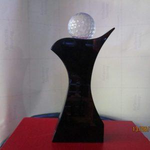 Black Crystal Crystal Plaque By Excellence Awards International