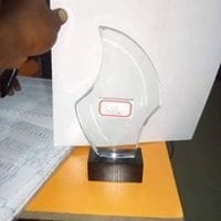 S-shape Crystal Plaque By Excellence Awards International By Excellence Awards International