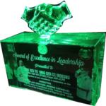 3D crystal award plaque